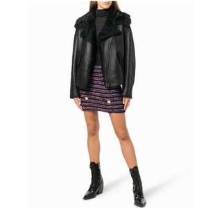 NWT Balmain Striped Knit Mini Skirt
